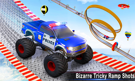 Police Car Racing Stunts 3D : Mega Ramp Car Games 3.8 screenshots 3