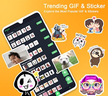 ❤️Emoji keyboard - Cute Emoticons, GIF, Stickers Screenshot