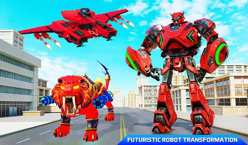 Flying Tank Transform Robot War: Lion Robot Games 10.3.0 Screenshots 11