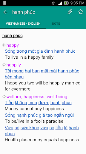 Dich tieng Anh - Tu dien Anh Viet TFlat 7.6.0 Screenshots 3