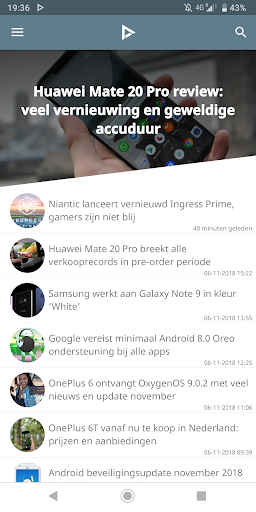 DroidApp - Android nieuws  Screenshots 1