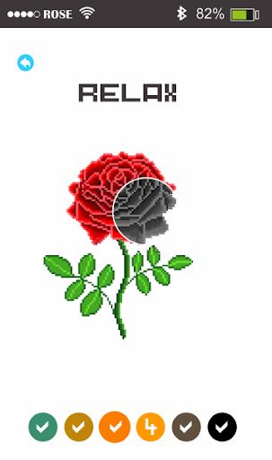 Rose Flowers Pixel Art - Paint By Number 1.5 screenshots 1