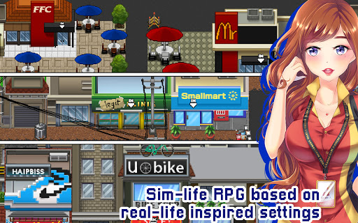 Citampi Stories: Offline Love and Life Sim RPG screenshots 1