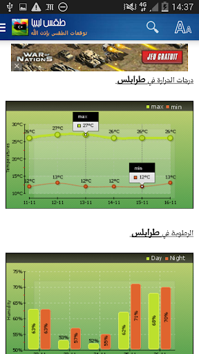 Libya Weather - Arabic 10.0.41 Screenshots 2