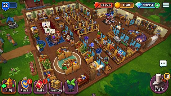 Shop Titans: Epic Idle Crafter, Build