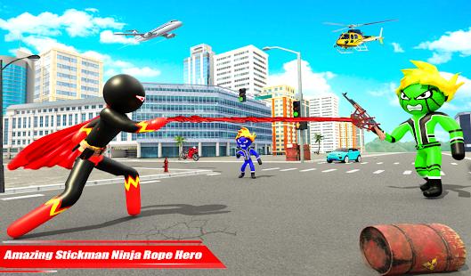 Real Police Stickman Rope Hero 18 Screenshots 7
