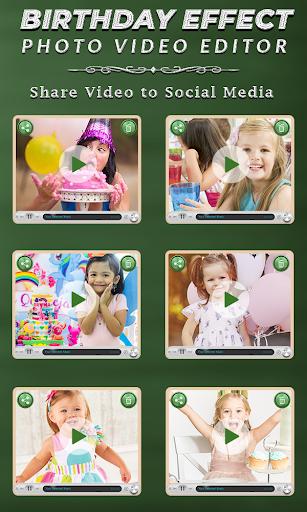 Birthday Photo Effect Video Maker with Song apktram screenshots 7