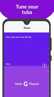 tonestro: Learn TUBA - Lessons, Songs & Tuner