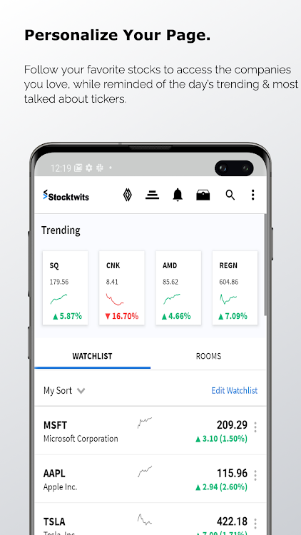 Stocktwits Stock Market Chat Android Apps Appagg You'll find call and put strike prices, last price, change, volume, implied volatility, theoretical and greeks. appagg