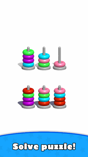 Sort Hoop Stack Color - 3D Color Sort Puzzle apkslow screenshots 10