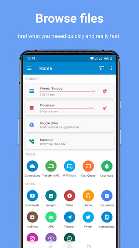 Download APK: File Manager Android TV Pro Wear Cloud USB Wifi v4.8.5 [Paid]