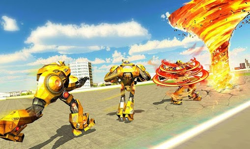 Tornado Robot games-Hurricane Robot Transform Wars 4