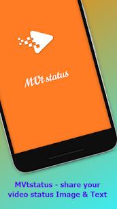 MVtstatus – share your video status Image & Text 1.3 APK Mod [Latest Version] 1