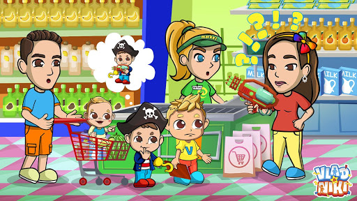 Vlad & Niki Supermarket game for Kids  screenshots 2