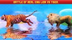 ライオン対トラ野生動物シミュレータゲームのおすすめ画像1
