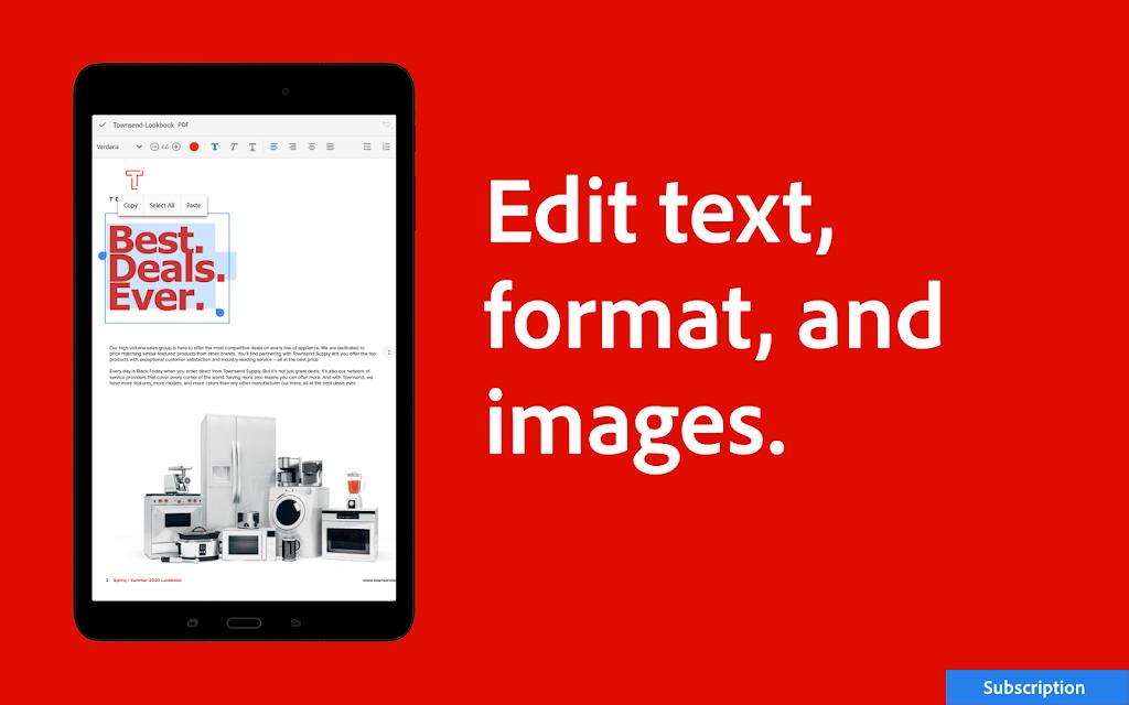 Adobe Acrobat Reader: Edit PDF poster 13