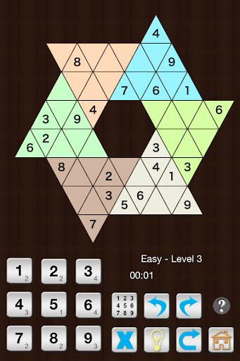 Star Sudoku six large triangle  screenshots 2