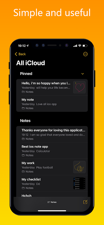 iNote - iOS Notes, iPhone Note poster 1