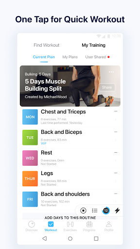 JEFIT Workout Tracker, Weight Lifting, Gym Log App apktram screenshots 7