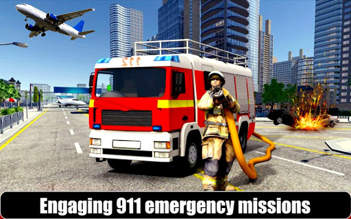 American Fire Fighter 2019: Airplane Rescue apkpoly screenshots 3