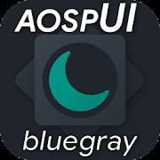 aospUI BlueGray, Substratum Dark theme +Synergy  Icon