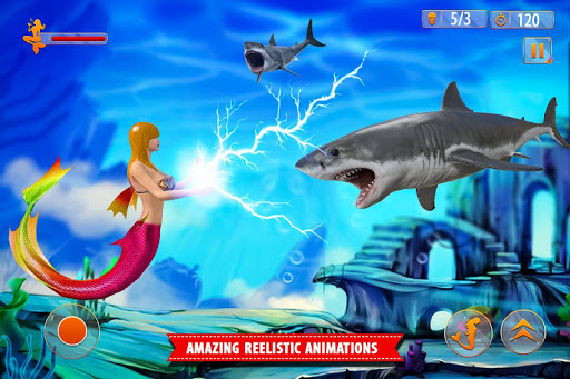 Mermaid Simulator Games: Sea & Beach Adventure android2mod screenshots 7