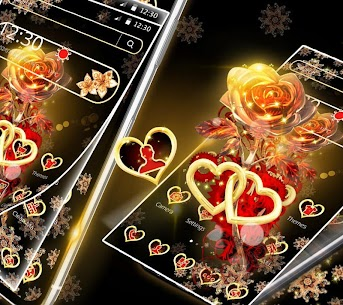 Red Gold Shiny Rose Theme 1.1.2 Mod APK Latest Version 3