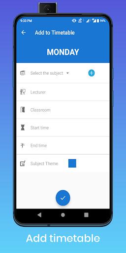 TimeTable - Homework, Exam, Holiday Manager  screenshots 2