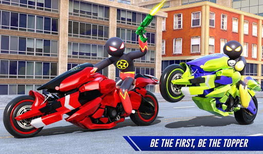 Stickman Moto Bike Hero: Crime City Superhero Game 5 Screenshots 10