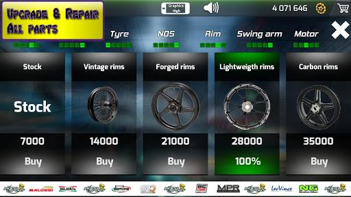 Motorbike  Online Drag Racing - Wheelie racing 3D screenshots 8