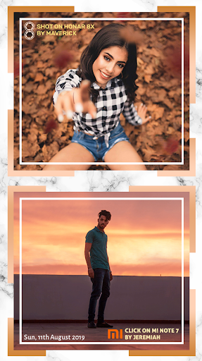 Shot On Stamp Photos with ShotOn Watermark Camera 1.3.1 Screenshots 6