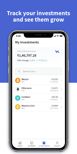 CoinDCX Go: Bitcoin, cryptocurrency investment app screenshots 8