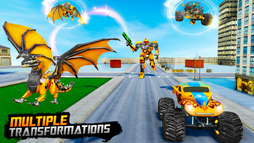 Monster Truck Robot Wars u2013 New Dragon Robot Game 1.0.7 screenshots 8