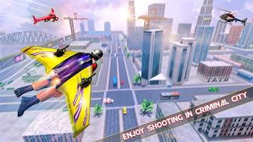 Flying Jetpack Hero Crime 3D Fighter Simulator