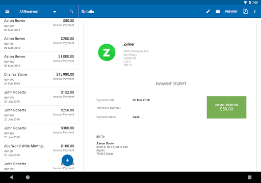 Zoho Invoice - Online Invoicing & Billing Software 5.23.09 Screenshots 10