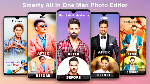 Smarty : Man editor app & background changer  screenshots 1