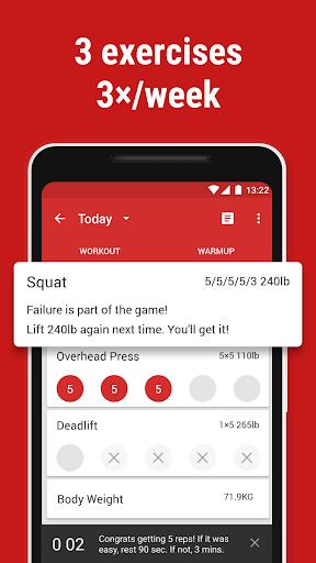 stronglifts 5x5 - weight lifting & gym workout log screenshot 2