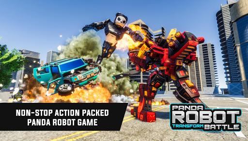 Police Panda Robot Car Transform: Flying Car Games  screenshots 8