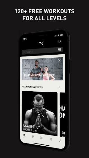 PUMATRAC Home Workouts, Training, Running, Fitness screenshot 1