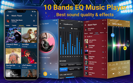 music player - 10 bands equalizer mp3 audio player screenshot 1