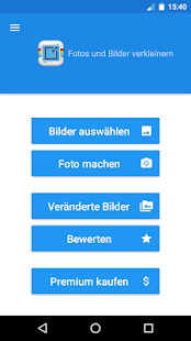 Fotos und Bilder Verkleinern - Photo Resizer Screenshot