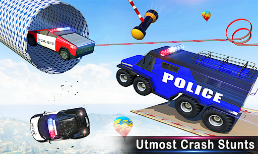 Police Car Racing Stunts 3D : Mega Ramp Car Games 3.8 screenshots 6