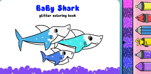 Baby Shark Coloring Book Glitter Apps On Google Play
