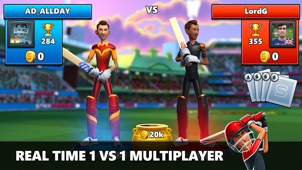 Stick Cricket Live 21 - Play 1v1 Cricket Games poster 1