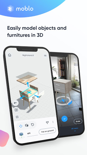 Moblo - 3D furniture drawing and augmented reality  Screenshots 1