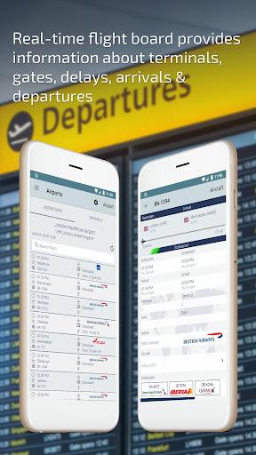 Flight Status u2013 Live Departure and Arrival Tracker  Paidproapk.com 2