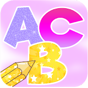 Learn Alphabets Coloring Book With Glitter