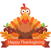 Happy Thanksgiving Day Stickers