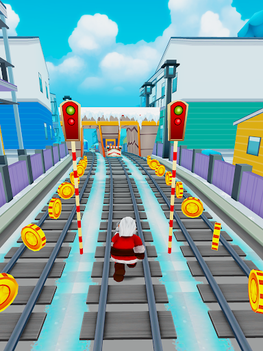 Subway Santa Xmas Run  screenshots 3