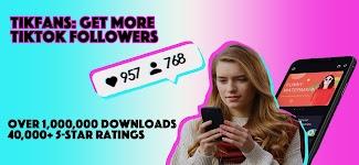 screenshot of TikFans - Get tik tok followers & tik tok likes